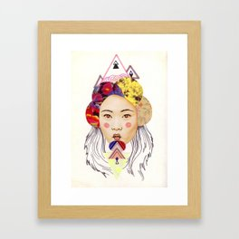 pink cheeks Framed Art Print