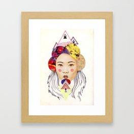 pink cheeks Framed Art Print