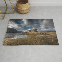 Eilean Donan Castle in Highlands of Scotland Rug