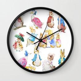Tales of Peter Rabbit  characters Beatrix Potter Wall Clock