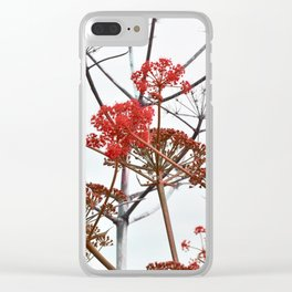 WILDFLOWERS in RED Clear iPhone Case