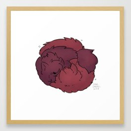 Fluffy Nuzzles! Framed Art Print