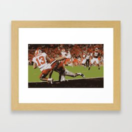 Clemson is Here Framed Art Print