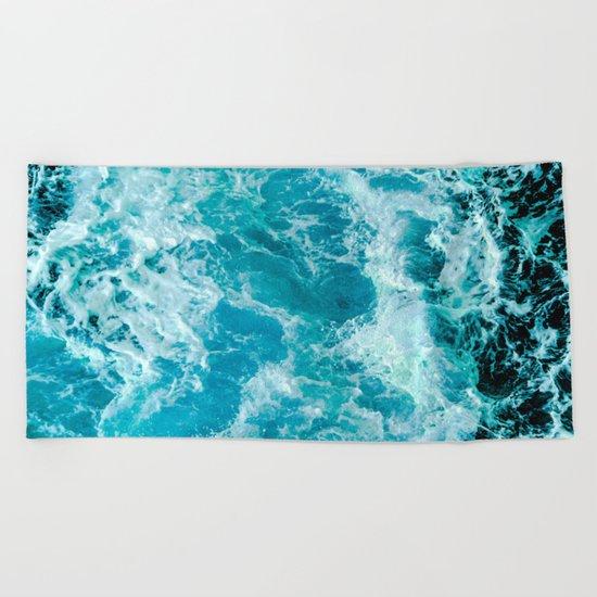 Sea Me Waving Beach Towel