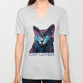 CAT LOVER Unisex V-Neck