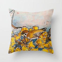 Suzume, Fall Throw Pillow