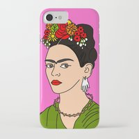 frida iPhone & iPod Cases featuring Frida by Neon Wonderland