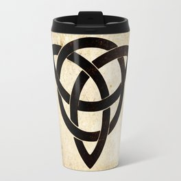 Celtic knot on old paper Travel Mug
