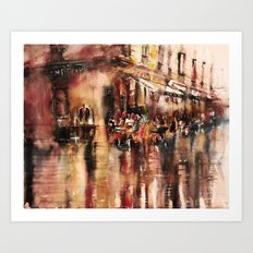 Soirée au Comptoir du commerce Art Print