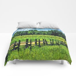 Country Fences 2 Comforters