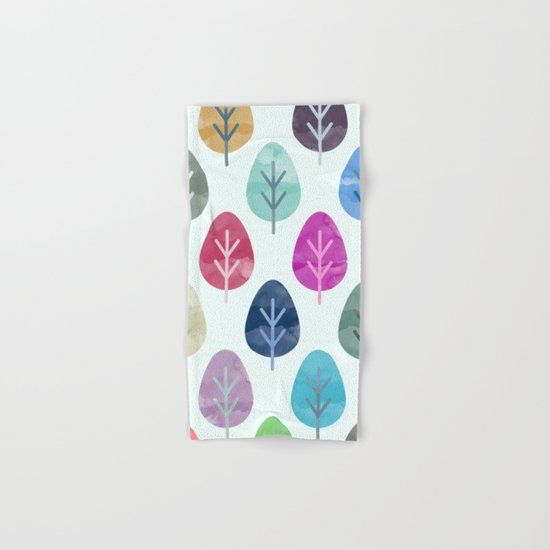 Watercolor Forest Pattern  Hand & Bath Towel