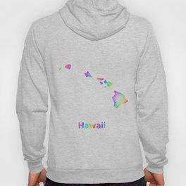 Rainbow Hawaii map Hoody