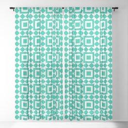 Moroccan Tiles Green Sheer Curtain
