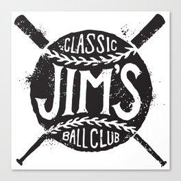 Classic Jim's Ball Club - Tshirt Canvas Print