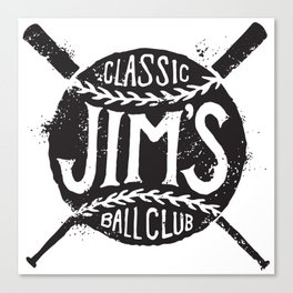 Classic Jim's Ball Club - Tshirt Canvas Print