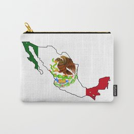 Mexico Map with Mexican Flag Carry-All Pouch