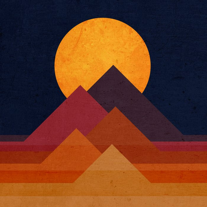 Full moon and pyramid Comforters