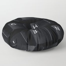 Classic QWERTY Keyboard  Floor Pillow