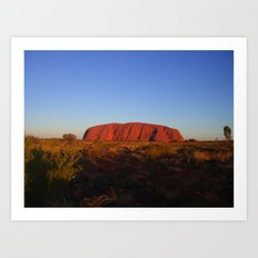 Uluru in the morning Art Print