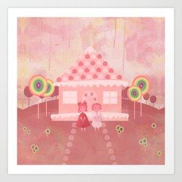 Candy Fields (Hansel & Gretel) Art Print