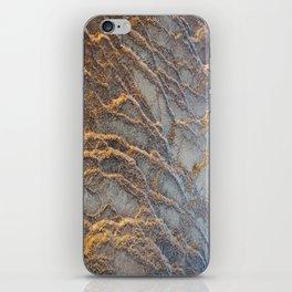 Travertine - blue gray iPhone Skin