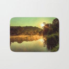 Sunrise at the lake /Sonnenaufgang am See Bath Mat
