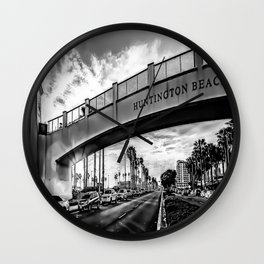 Welcome To Surf City Wall Clock