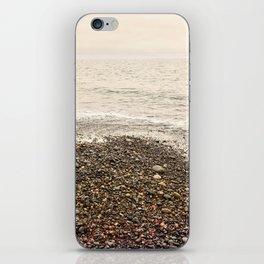 Dungeness Shoreline, Pebble Beach, Washington Seascape, Juan de Fuca, Coastal Photography iPhone Skin