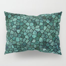 Oceanic Mosaic Crust Texture Abstract Pattern Pillow Sham