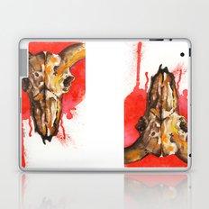 red moon skull Laptop & iPad Skin