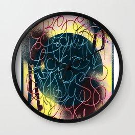 GraffitiAlphabet Wall Clock