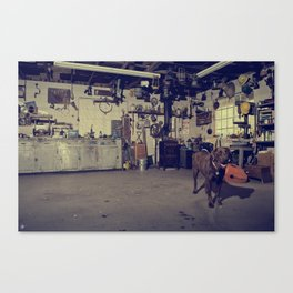 Naco's Garage Canvas Print