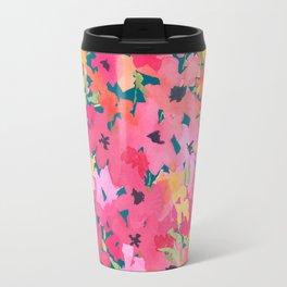 Pink and Peach Garden Travel Mug