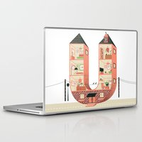 letter Laptop & iPad Skins featuring Letter U by Margarida Esteves