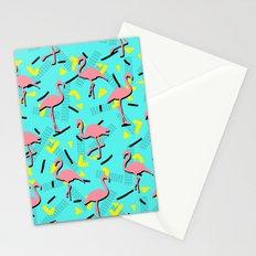 Flamingos Memphis #society6 #decor #buyart Stationery Cards
