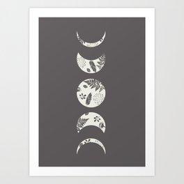 Lunar Nature Art Print