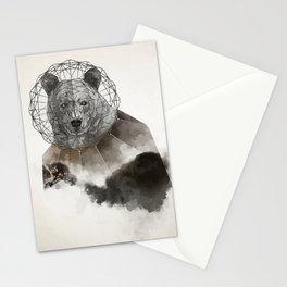 Polygonal bear Stationery Cards