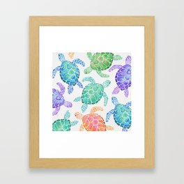 Sea Turtle - Colour Framed Art Print