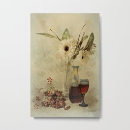 Wine And Wildflowers Metal Print