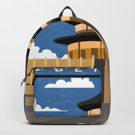 Beijing, China- Retro travel minimalistic poster Backpack