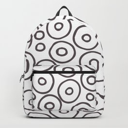 circles 2 - brown and white Backpack