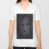 iggy V-neck T-shirts featuring iggy pop by odinelpierrejunior