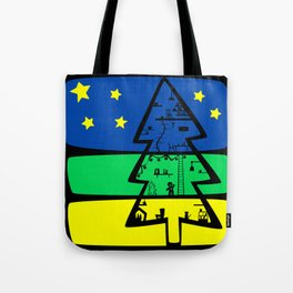 Gingerbread Man's Christmas Tree House Tote Bag