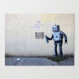 Banksy, Robot Canvas Print