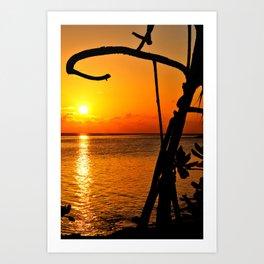 Sunrise The Maldives Art Print