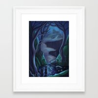 carmilla Framed Art Prints featuring Scene from Carmilla 2 by Nick Helton