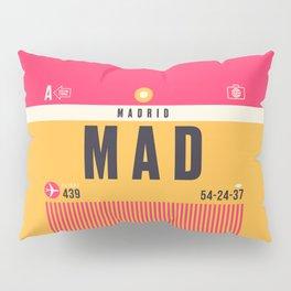 Baggage Tag A - MAD Madrid Barajas Spain Pillow Sham