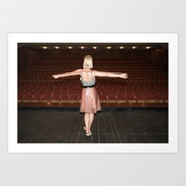 Everyone Likes to get On Stage and be Applauded Art Print