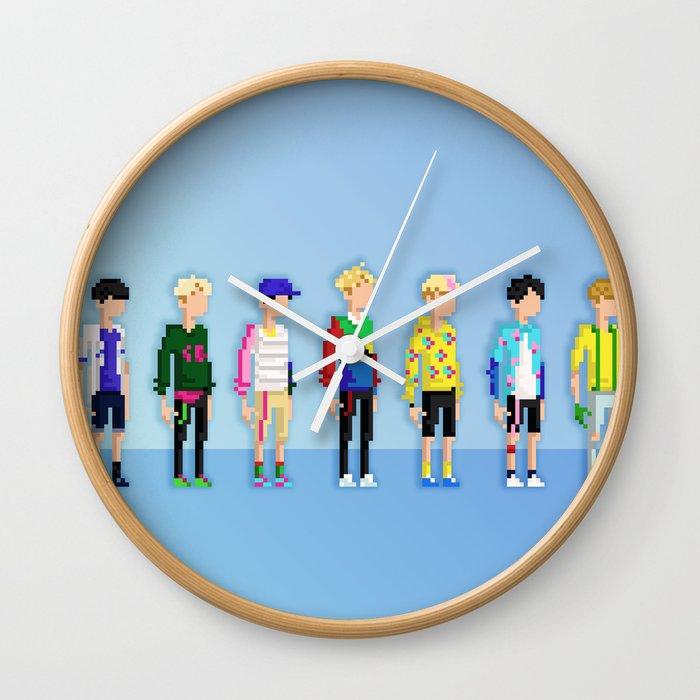 GOT7 8-bit Just Right Wall Clock by anzakclub   Society6