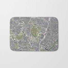 Tokyo city map engraving Bath Mat
